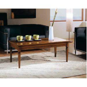 Tavolino rettangolare con piano legno