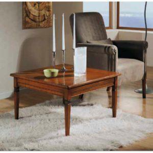 Tavolino quadrato piano in legno