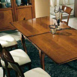 Tavolo quadrato aperto