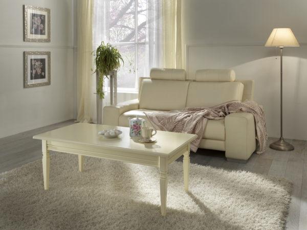 Tavolino rettangolare piano legno
