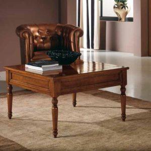 Tavolino quadrato piano legno